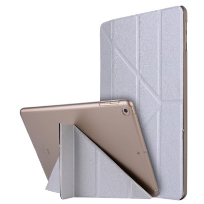 Buy SILVER For iPad 2017 Case Model A1822 A1823 9.7 Inch Soft Tpu Leather Surface Cover Flip Stand Safe Smart for $9.00 in GearBest store