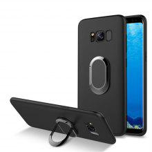 Multifunctional Mobile Phone Case Magnetic Car Holder Kickstand Back Cover Finger Ring Stand for Samsung Galaxy S8 Plus
