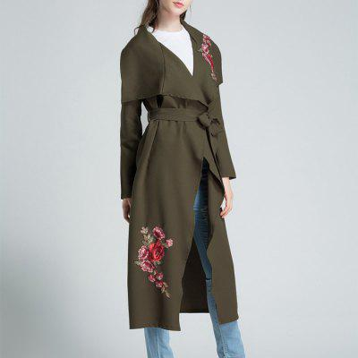 Womens Coat Casual Thin Rose Cape Trench CoatJackets &amp; Coats<br>Womens Coat Casual Thin Rose Cape Trench Coat<br><br>Closure Type: Open Stitch<br>Clothes Type: Trench<br>Collar: Turn-down Collar<br>Elasticity: Elastic<br>Embellishment: Embroidery<br>Fabric Type: Twill<br>Material: Linen<br>Package Contents: 1 x Coat<br>Pattern Type: Floral<br>Shirt Length: Medium Length<br>Sleeve Length: Full<br>Style: Fashion<br>Type: Asymmetric Length<br>Weight: 0.3500kg<br>With Belt: Yes