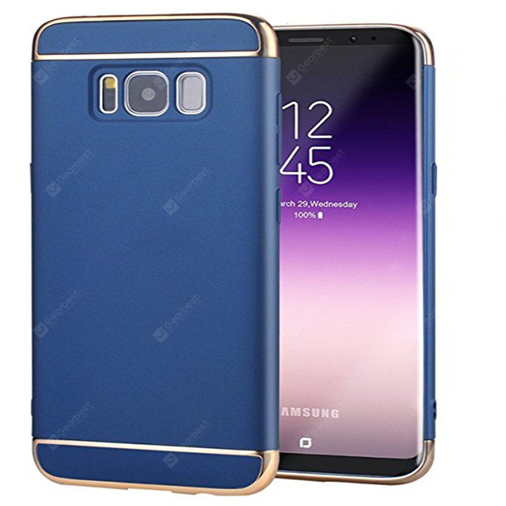 3 In 1 Ultra Thin and Slim Hard Coated Non Slip Matte Surface with Electroplate Frame for Samsung Galaxy S8 Case