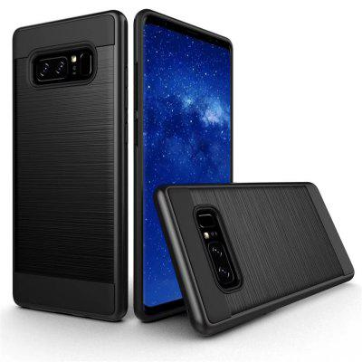 Newest Wire Drawing War 2 in 1 Hybrid Hard PC+ TPU Soft Rubber Anti-Skid Flexible Armor Cover Heavy Duty Protective for Samsung Galaxy Note 8 case