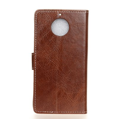 Genuine Quality Retro Style Crazy Horse Pattern Flip PU Leather Wallet Case for MOTO G6 PlusCases &amp; Leather<br>Genuine Quality Retro Style Crazy Horse Pattern Flip PU Leather Wallet Case for MOTO G6 Plus<br><br>Features: With Credit Card Holder<br>Material: PU Leather<br>Package Contents: 1 x Flip PU Leather Wallet Case<br>Package size (L x W x H): 20.00 x 20.00 x 5.00 cm / 7.87 x 7.87 x 1.97 inches<br>Package weight: 0.0500 kg<br>Product weight: 0.0300 kg<br>Style: Solid Color