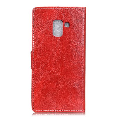 Genuine Quality Retro Style Crazy Horse Pattern Flip PU Leather Wallet Case for Samsung A7 2018 fashion vertical crazy horse pu leather flip case for iphone 4 4s black
