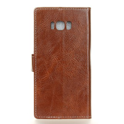 Genuine Quality Retro Style Crazy Horse Pattern Flip PU Leather Wallet Case for Samsung S8 Plus fashion vertical crazy horse pu leather flip case for iphone 4 4s black