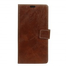 Genuine Quality Retro Style Crazy Horse Pattern Flip PU Leather Wallet Case for Samsung S8