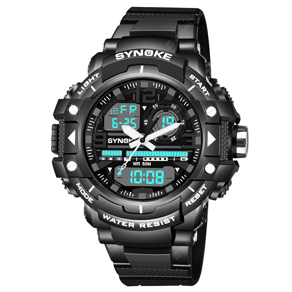 SYNOKE Multi-function Outdoor Sports Waterproof Climbing Male Electronic Watch