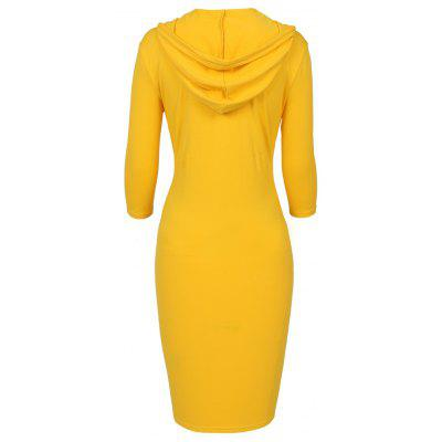 New Style Cotton Elegant Women Autumn 3/4 Sleeve Knee Length Long HoodieSweatshirts &amp; Hoodies<br>New Style Cotton Elegant Women Autumn 3/4 Sleeve Knee Length Long Hoodie<br><br>Closure Type: None<br>Collar: Hooded<br>Detachable Part: None<br>Elasticity: Elastic<br>Fabric Type: Worsted<br>Hooded: Yes<br>Material: Cotton Blend<br>Package Contents: 1 x Hoodie<br>Pattern Style: Striped<br>Shirt Length: X-Long<br>Sleeve Length: Three Quarter<br>Sleeve Style: Regular<br>Style: Fashion<br>Thickness: Standard<br>Weight: 0.3800kg