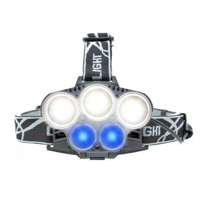 BRELONG LED Headlamps 5LEDs White Blue Light