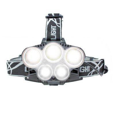 BRELONG LED Headlamp 5LEDs USB White Light
