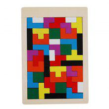 Maikou Wooden Tangram Jigsaw Brain Tetris Block Intelligence Toy for Kids 40PCS