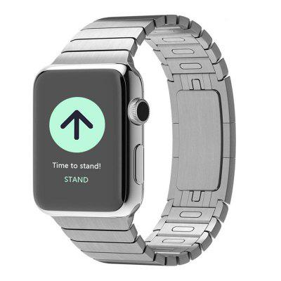 Buy SILVER Stainless Steel Replacement Link Bracelet Watch Band with Double Button Folding Clasp for Apple Watch 42MM Series 3 / 2 / 1 for $44.14 in GearBest store