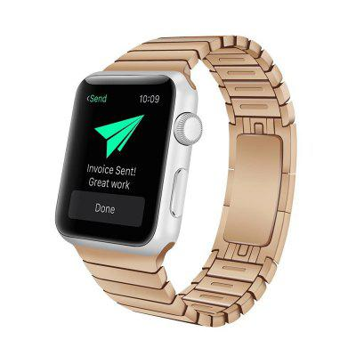 Buy ROSE GOLD Stainless Steel Replacement Link Bracelet Watch Band with Double Button Folding Clasp for Apple Watch 42MM Series 3 / 2 / 1 for $44.14 in GearBest store