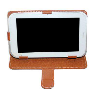 Tablet Leather Case 7 inch universal Protection CaseiPad Cases/Covers<br>Tablet Leather Case 7 inch universal Protection Case<br><br>Features: Full Body Cases, Cases with Stand<br>Material: PU, PC<br>Package Contents: 1 x Tablet Case<br>Package size (L x W x H): 20.00 x 13.00 x 2.50 cm / 7.87 x 5.12 x 0.98 inches<br>Package weight: 0.1600 kg<br>Product weight: 0.1500 kg<br>Style: Solid Color