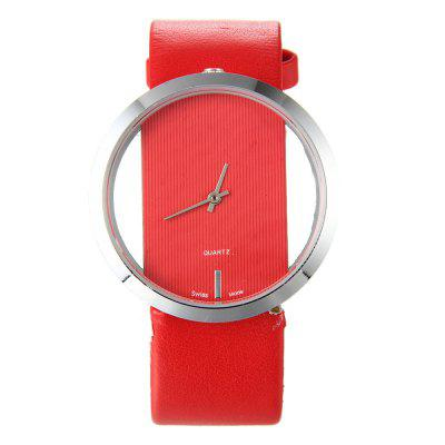 Trendy Hollow Silicone Band Women Watch