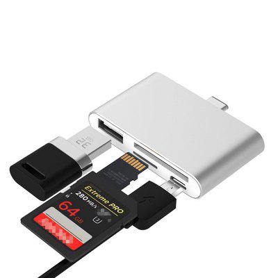 TC41 Type C HUB SD/Micro SD Card Reader with USB3.0 Port