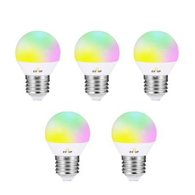 EXUP E27 5W 270Degree RGB LED Spot Bulb with Remote Controller 5PCS 85 - 265V