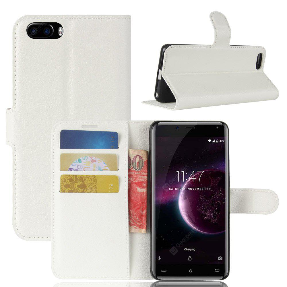 Solid Color Litchi Pattern Wallet Style Front Buckle Flip Pu Leather Case with Card Slots for Cubot Magic