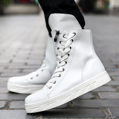 """Men Boots Lace Up Solid Color Top FashionMens Boots<br>Men Boots Lace Up Solid Color Top Fashion<br><br>Boot Height: Mid-Calf<br>Boot Type: Fashion Boots<br>Closure Type: Lace-Up<br>Embellishment: Chains<br>Gender: For Men<br>Heel Hight: Flat(0-0.5"""")<br>Heel Type: Low Heel<br>Outsole Material: Rubber<br>Package Contents: 1xShoes(pair)<br>Pattern Type: Solid<br>Season: Winter, Spring/Fall<br>Toe Shape: Round Toe<br>Upper Material: PU<br>Weight: 1.2000kg"""