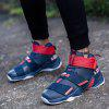 Men's Outdoor Walking Leisure and Comfortable Fashion Sports Basketball Shoes - BLUE AND RED