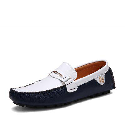 New  Mens Casual Flat Peas ShoesFlats &amp; Loafers<br>New  Mens Casual Flat Peas Shoes<br><br>Available Size: 39-44<br>Closure Type: Slip-On<br>Embellishment: Ruched<br>Gender: For Men<br>Occasion: Casual<br>Outsole Material: Rubber<br>Package Contents: 1x Shoes (pair)<br>Pattern Type: Solid<br>Season: Spring/Fall<br>Toe Shape: Round Toe<br>Toe Style: Closed Toe<br>Upper Material: Genuine Leather<br>Weight: 1.2000kg