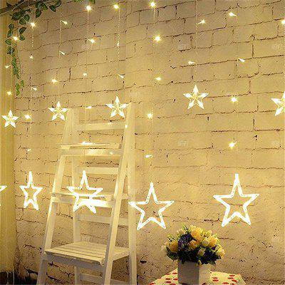 2m Romantic Fairy Star Led Curtain String Light Eu 220v