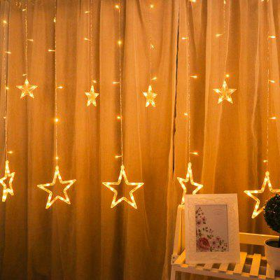 2M Romantic Fairy Star Led Curtain String Light EU 220V Xmas Garland Light for Wedding Party Holiday Decor