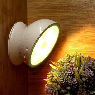 360 Degree Rotate Intelligent LED Night Light Human Body Sensor Lamp Magnetic Adsorption Corridor Wardrobe Wall Lamp
