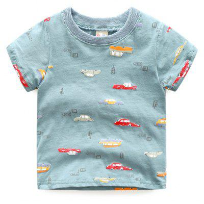 Children's Cartoon T-shirt Short Sleeve Boy Edition Casual Shirt