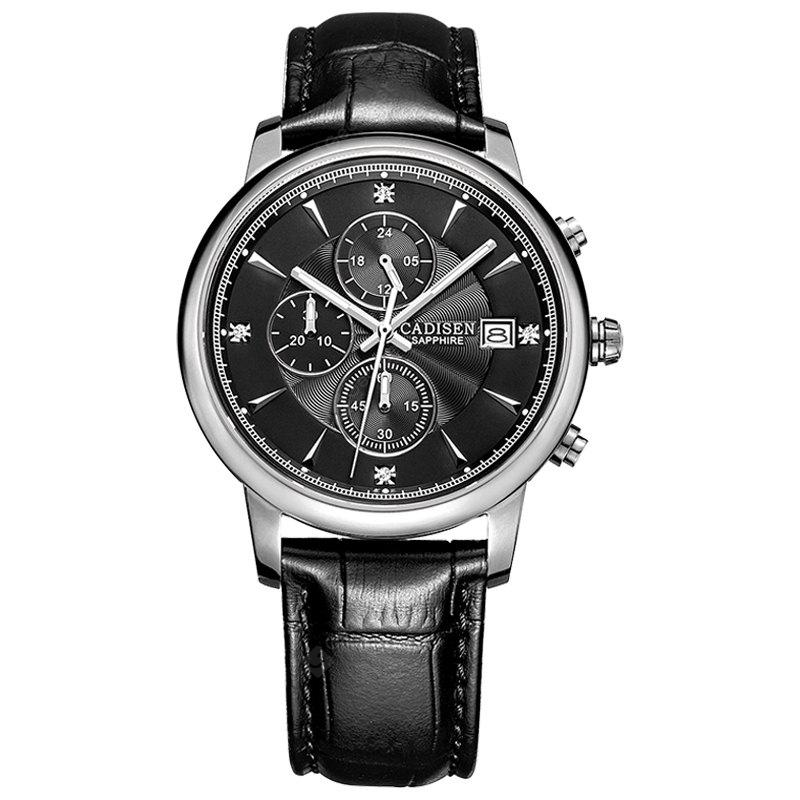CADISEN Men Luxury Brand Quartz Analog Sports Wrist Watch