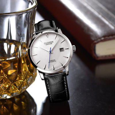 Cadisen C8097 Men Stainless Steel Brand Clock Automatic Watch yazole brand lovers watch women men watches 2017 female male clock leather men s wrist watch girls quartz watch erkek kol saati