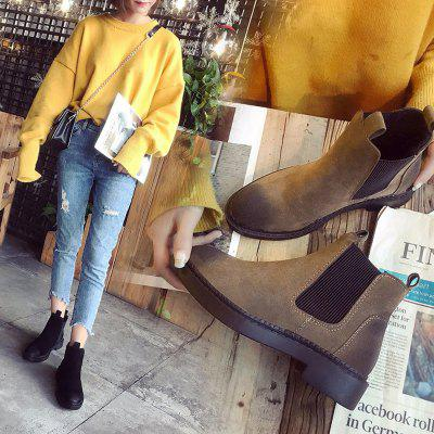 Women Fashion Ankle Martin Flat Boots Waterproof Thick Low HeelWomens Boots<br>Women Fashion Ankle Martin Flat Boots Waterproof Thick Low Heel<br><br>Boot Height: Ankle<br>Boot Type: Fashion Boots<br>Closure Type: Slip-On<br>Gender: For Women<br>Heel Type: Low Heel<br>Package Contents: 1 x Boots (Pair)<br>Pattern Type: Solid<br>Season: Winter<br>Toe Shape: Round Toe<br>Upper Material: Flock<br>Weight: 0.3000kg