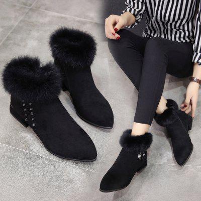 Women Fashion Ankle Martin Fur Boots with Zipper Waterproof Thick High Heel Pointed ShoesWomens Boots<br>Women Fashion Ankle Martin Fur Boots with Zipper Waterproof Thick High Heel Pointed Shoes<br><br>Boot Height: Ankle<br>Boot Type: Fashion Boots<br>Closure Type: Zip<br>Gender: For Women<br>Heel Type: Chunky Heel<br>Package Contents: 1 x Boots (Pair)<br>Pattern Type: Solid<br>Season: Winter<br>Toe Shape: Pointed Toe<br>Upper Material: Flock<br>Weight: 0.3000kg