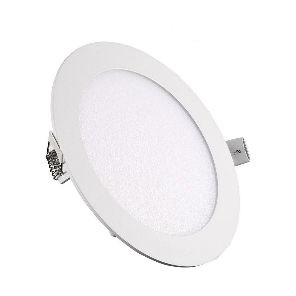 9W Dimmable Round Ultra-thin LED Panel Light Lamp 5pcs