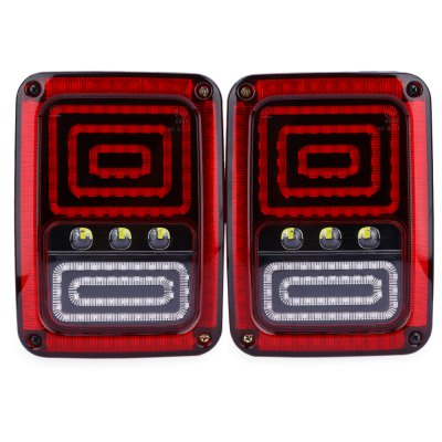 Buy RED USA Edition Reverser Brake Turn Signal LED Rear Tail Light for Jeep Wrangler for $88.94 in GearBest store