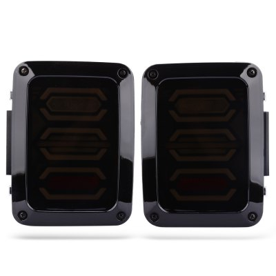Buy BLACK USA Plug Turn Signal Brake LED Rear Jeep Wrangler Multi Function Tail Light for $100.43 in GearBest store