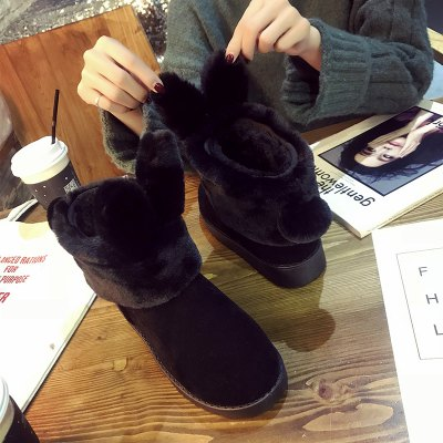 Winter New South Korean Cartoon Snow BootsWomens Boots<br>Winter New South Korean Cartoon Snow Boots<br><br>Boot Height: Ankle<br>Boot Type: Snow Boots<br>Closure Type: Slip-On<br>Gender: For Women<br>Heel Height: 2<br>Heel Height Range: Flat(0-0.5)<br>Heel Type: Flat Heel<br>Insole Material: PU<br>Lining Material: Plush<br>Outsole Material: Rubber<br>Package Contents: 1?Shoes(pair)<br>Pattern Type: Solid<br>Platform Height: 1<br>Season: Spring/Fall, Winter<br>Shoe Width: Medium(B/M)<br>Toe Shape: Round Toe<br>Upper Material: Flock<br>Weight: 1.8000kg