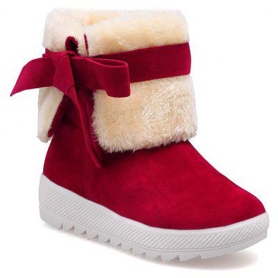 Buy RED 39 Winter Sweet New Bow Snow Boots for $28.03 in GearBest store