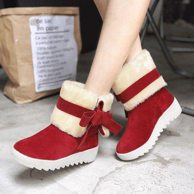 Winter Sweet New Bow Snow BootsWomens Boots<br>Winter Sweet New Bow Snow Boots<br><br>Boot Height: Ankle<br>Boot Type: Snow Boots<br>Closure Type: Slip-On<br>Embellishment: Bow<br>Gender: For Women<br>Heel Height: 2<br>Heel Height Range: Flat(0-0.5)<br>Heel Type: Flat Heel<br>Insole Material: PU<br>Lining Material: Plush<br>Outsole Material: Rubber<br>Package Contents: 1?Shoes?pair?<br>Pattern Type: Solid<br>Platform Height: 2<br>Season: Winter, Spring/Fall<br>Shoe Width: Medium(B/M)<br>Toe Shape: Round Toe<br>Upper Material: Flock<br>Weight: 1.8000kg