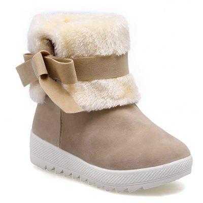 Buy KHAKI 36 Winter Sweet New Bow Snow Boots for $28.03 in GearBest store