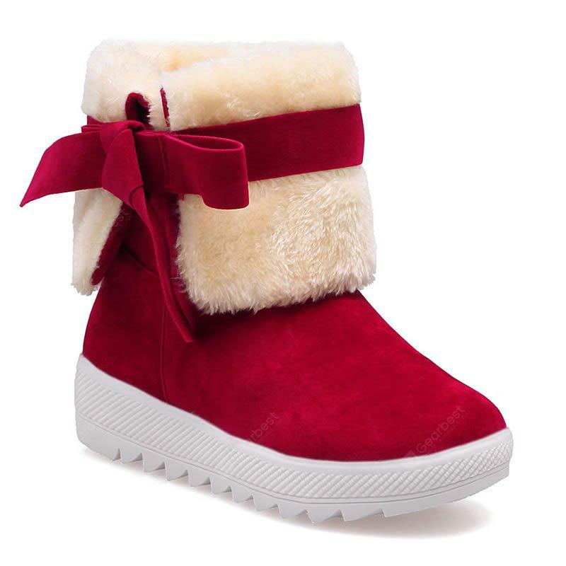RED 38 Winter Sweet New Bow Snow Boots