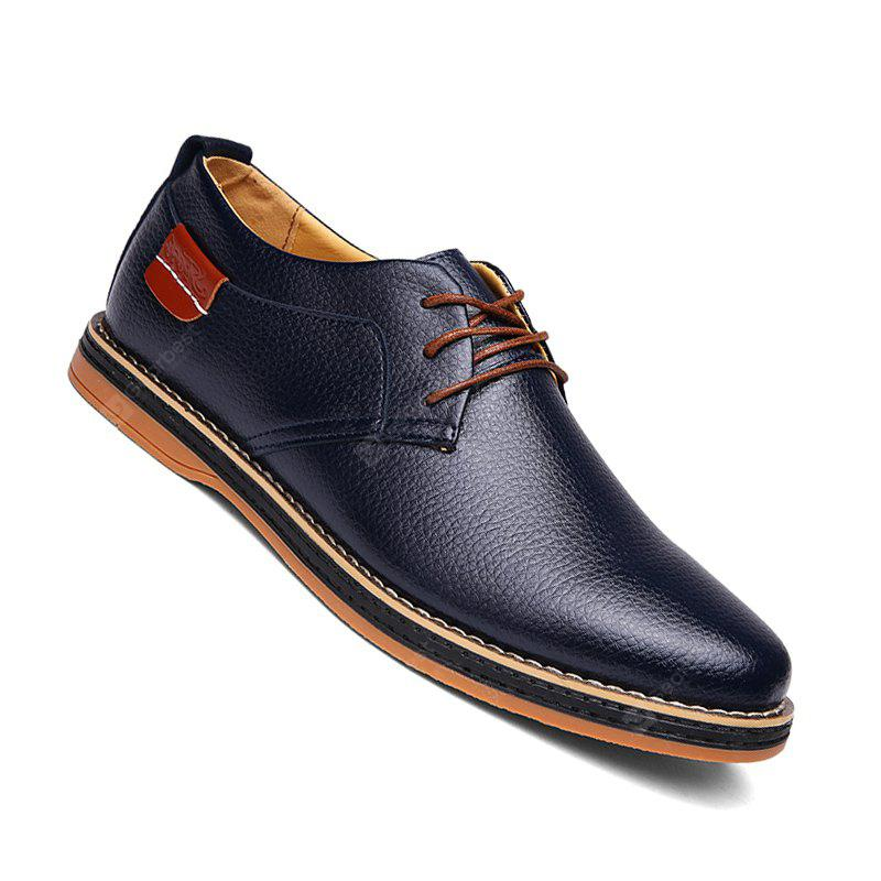 Men Casual New Trend for Fashion Lace Up Outdoor Leather Business Wedding  Shoes
