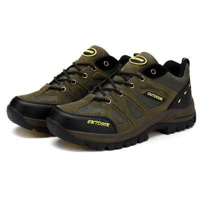Men Casual New Trend for Fashion Outdoor Leather Lace Up Rubber Plus Big Size Shoes