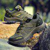 Men Casual New Trend for Fashion Outdoor Leather Lace Up Rubber Plus Big Size Shoes - GREEN
