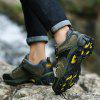Men Casual New Trend for Fashion Warm Outdoor Lace Up Rubber Big Plus Size Shoes - GREEN