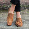 Men Casual Shoes Cloth Slip on Loafers Comfortable Footwear Sneakers - BROWN