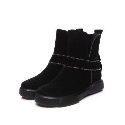 Casual Plush Head Flat Bottom Short BootsWomens Boots<br>Casual Plush Head Flat Bottom Short Boots<br><br>Boot Height: Mid-Calf<br>Boot Type: Snow Boots<br>Closure Type: Slip-On<br>Gender: For Women<br>Heel Height: 3<br>Heel Height Range: Low(0.75-1.5)<br>Heel Type: Flat Heel<br>Insole Material: PU<br>Lining Material: Plush<br>Outsole Material: Rubber<br>Package Contents: 1xShoes?pair?<br>Pattern Type: Solid<br>Platform Height: 3<br>Season: Spring/Fall, Winter<br>Shoe Width: Wide(C/D/W)<br>Toe Shape: Round Toe<br>Upper Material: Microfiber<br>Weight: 0.8500kg