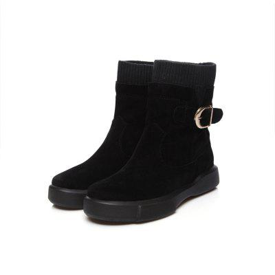 Worsted Flat Top Casual BootsWomens Boots<br>Worsted Flat Top Casual Boots<br><br>Boot Height: Mid-Calf<br>Boot Type: Snow Boots<br>Closure Type: Slip-On<br>Gender: For Women<br>Heel Height: 3<br>Heel Height Range: Low(0.75-1.5)<br>Heel Type: Flat Heel<br>Insole Material: PU<br>Lining Material: Plush<br>Outsole Material: Rubber<br>Package Contents: 1xShoes?pair?<br>Pattern Type: Solid<br>Platform Height: 3<br>Season: Spring/Fall, Winter<br>Shoe Width: Wide(C/D/W)<br>Toe Shape: Round Toe<br>Upper Material: Microfiber<br>Weight: 0.8800kg