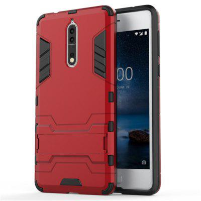 Shockproof Solid Color Hard PC Case with Stand Back Cover for Nokia 8