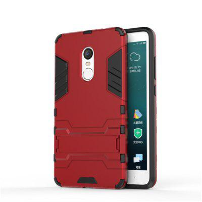 Shockproof Solid Color Hard PC Case with Stand Back Cover for Redmi Note 4 / Note 4X