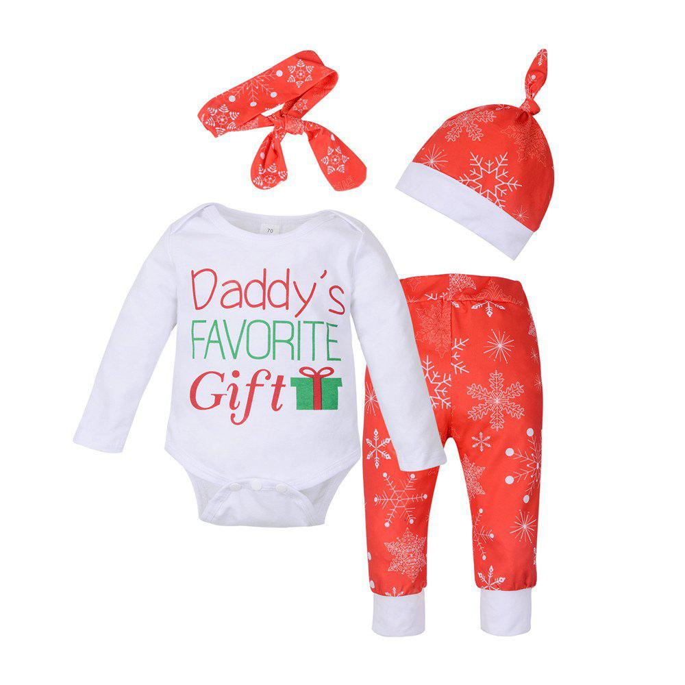 Newborn Baby Boys Girls Christmas Clothes Tops Romper + Pants + Hat ...